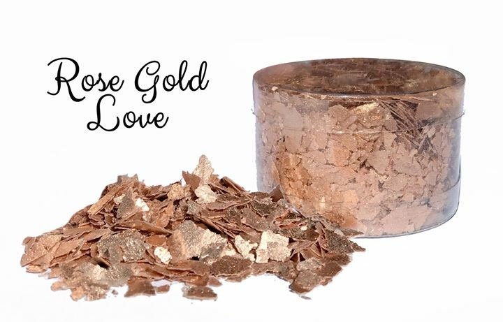 ROSE GOLD EDIBLE GLITTER FLAKES 6g