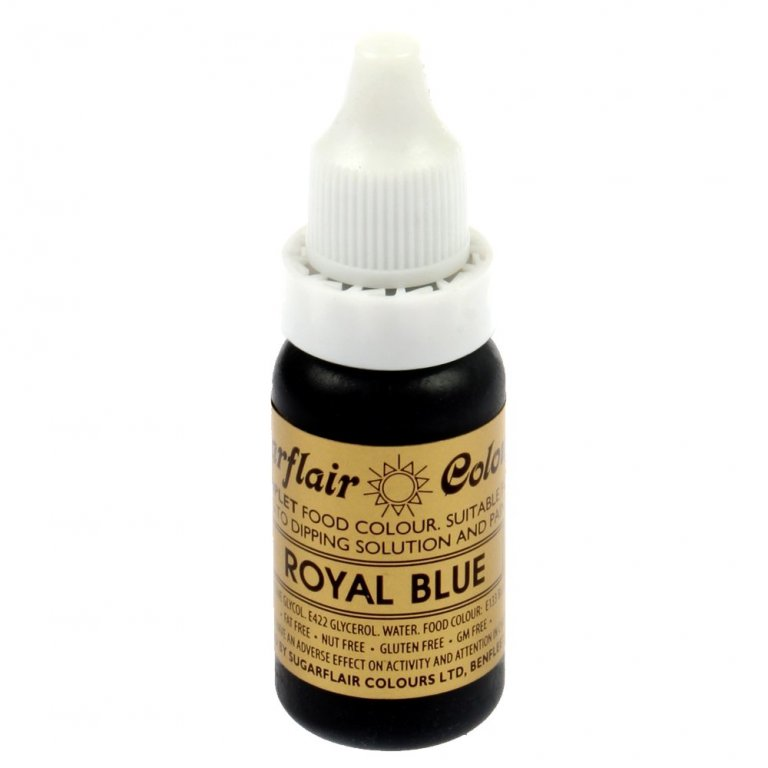 Sugarflair, Sugartint Droplet Colour - Royal Blue 14ml