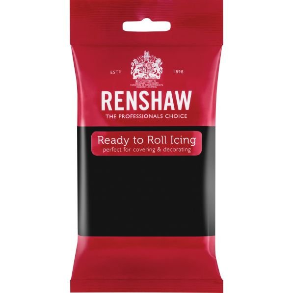 Renshaw 250g Jet Black Ready to Roll Fondant Icing