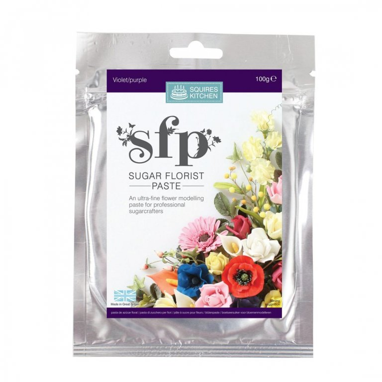 100G Violet/Purple Squires Kitchen Florist Paste