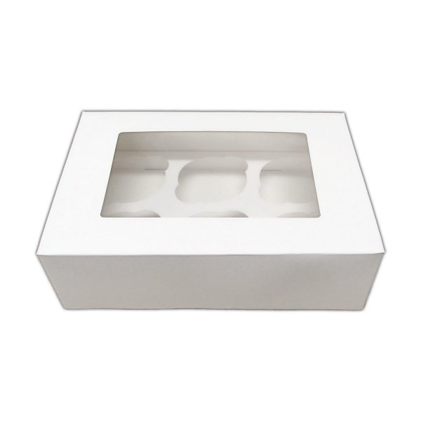 Bulk Pack of 25 White 6 Cupcake/Muffin Boxes Insert May Vary