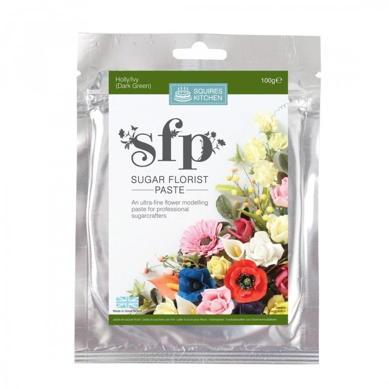 100G Holly/Ivy Squires Kitchen Florist Paste
