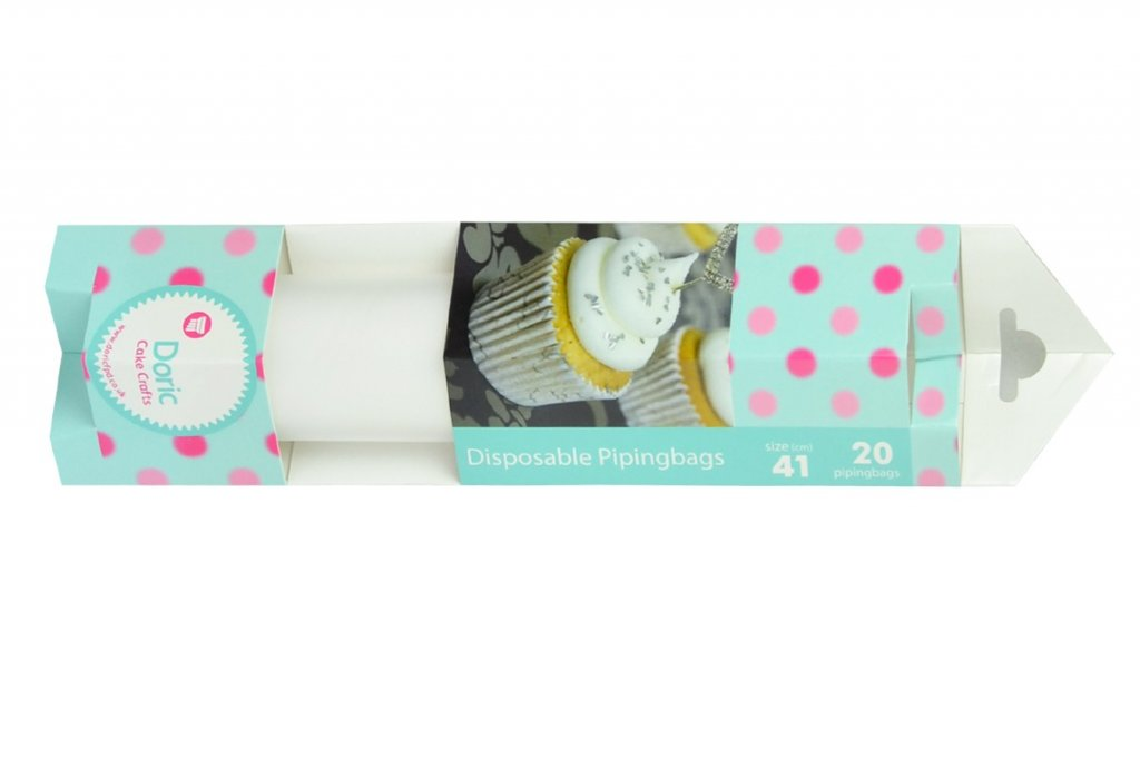 16'' Clear Disposable Piping Bags Pack of 20