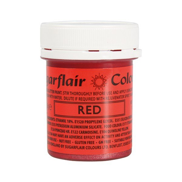 Sugarflair Edible Glitter Paint - Red 35g