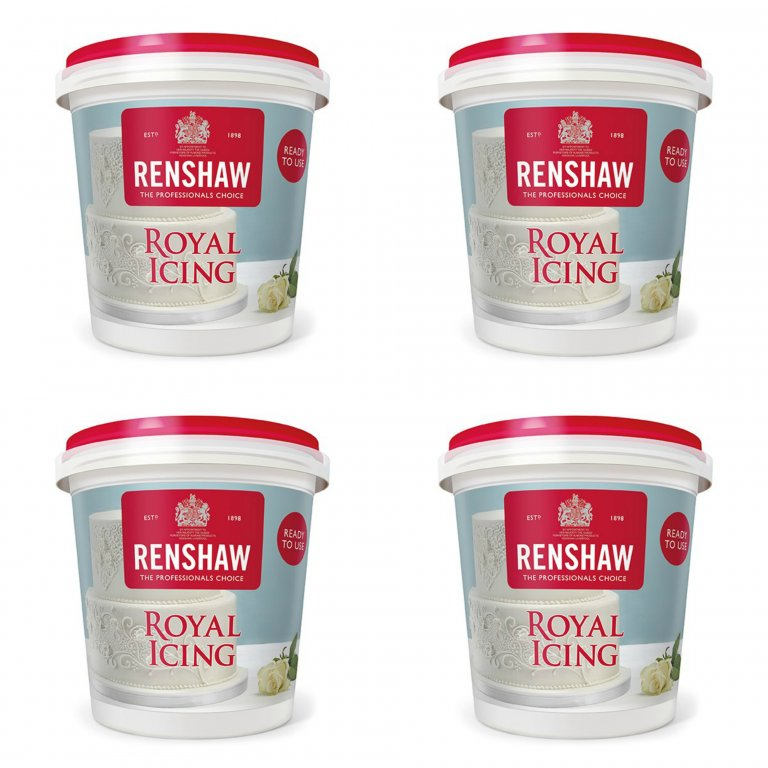 Renshaw Ready to Use Royal Icing 1.6kg (4 x 400g)