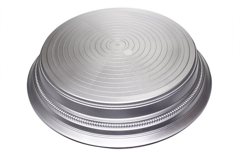 Napier Round Plastic Cake Stand 355mm (14'') - Satin Silver