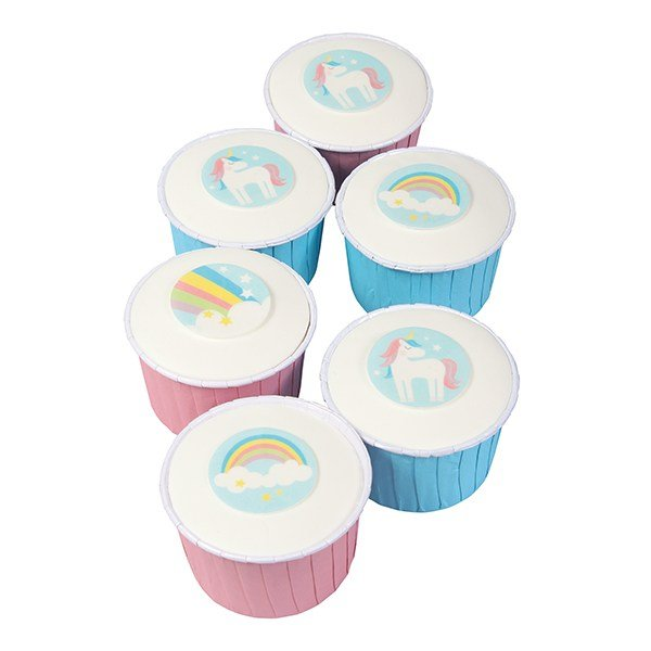Unicorn Wafer Cake Toppers Pack of 12