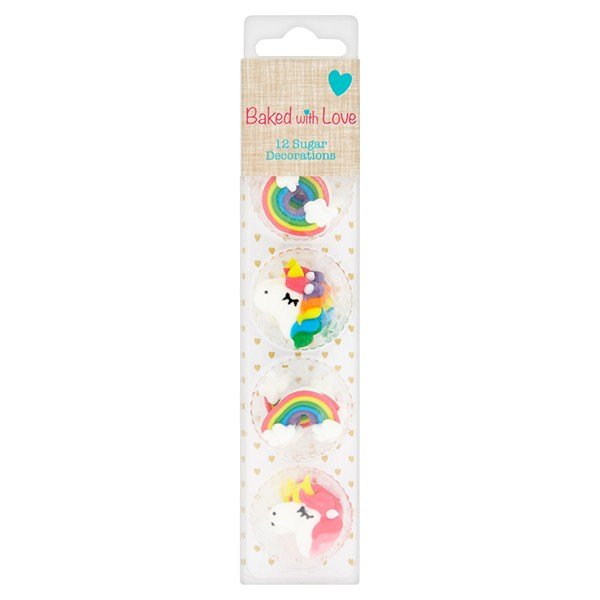 Baked with Love Unicorn Sugar Pipings Pack of 12